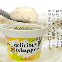 dElicious is HAppy 徳島県産ゆこう×長野県産シャインマスカット シャーベット